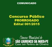 Câmara de São Lourenço da Mata prorroga validade de concurso público