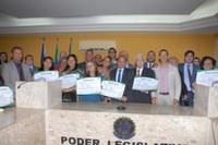 Professores recebem Título Cidadão Benemérito