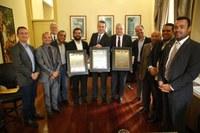 Vereadores concedem título de cidadão a secretários estaduais
