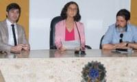 Vereadores se reúnem com juíza e chefe do Cartório Eleitoral, nesta quarta-feira (7)