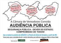Segurança é tema de audiência pública na próxima quarta-feira (14)